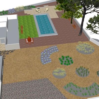 Diseño nueva Construcción de Jardín