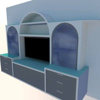 Diseño de Mueble de escayola modelo Bassett