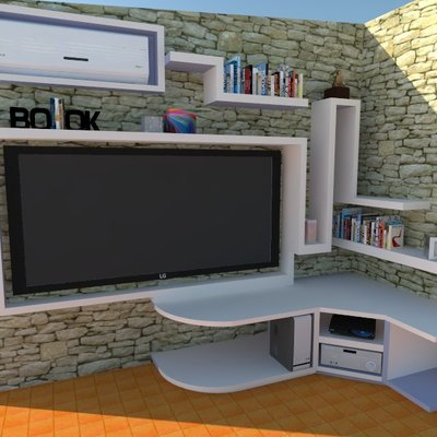 Diseño de mueble de escayola Modelo Space