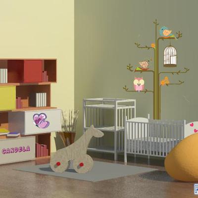 Diseñpo 3D dormitorio infantil