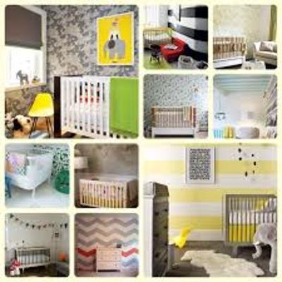 Distintos tipos de papeles pintados para habitaciones infantiles.