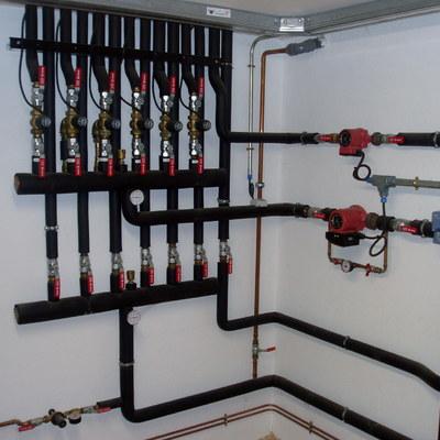 Distribución líneas de calefacción