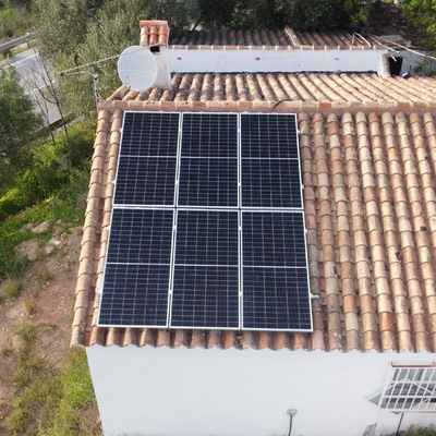Instalación coplanar a tejado