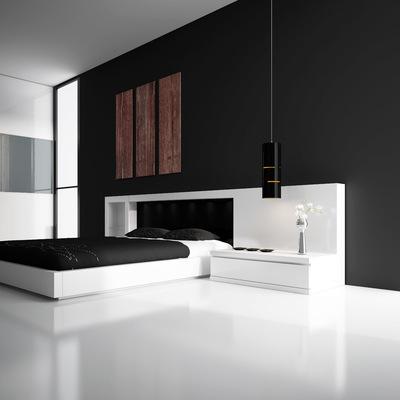 Dormitori Area lacat blanc mate/negre mate