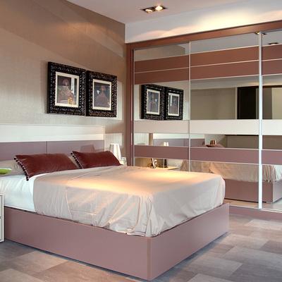 Dormitorio con armario serie Onix.