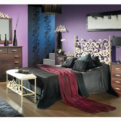 Dormitorio ISIS con cabecero de cama en forja