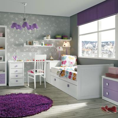 Dormitorio juvenil en madera de haya maciza