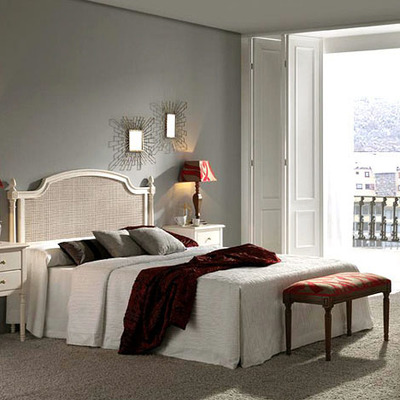 Dormitorio matrimonio cabecero rejilla