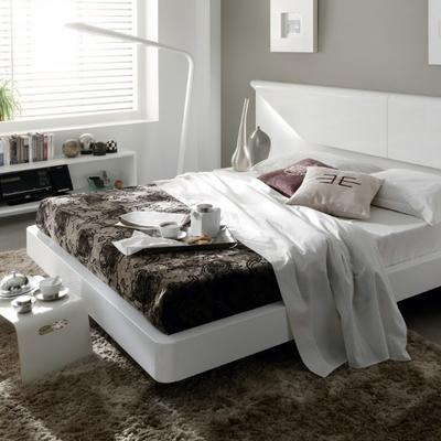 dormitorio moderno en blanco