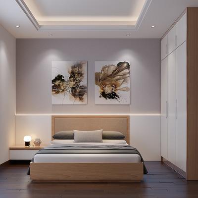 Dormitorio con domótica