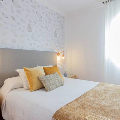 Dormitorio tras intervención de Home Staging de bajo voste
