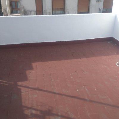 Reparación de terraza despues