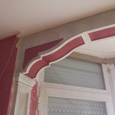 arco de escayola decorado