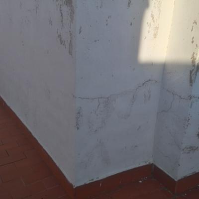 Reparación de terraza antes