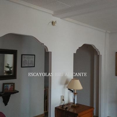 arcos de escayola instalados en Santa Pola - Alicante