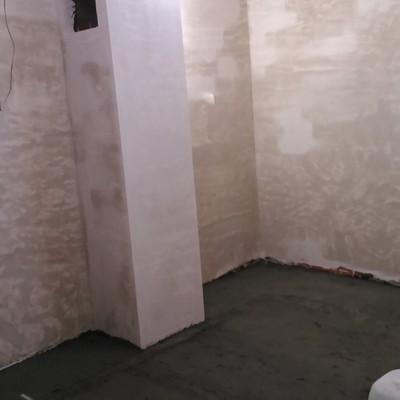 Revestimiento de paredes con yeso en desván