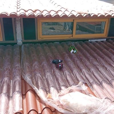 Colocación De techo panel de sándwiches