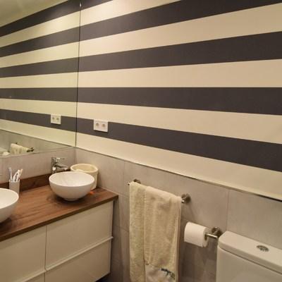 baño. piso 220m2 en serrano. Madrid.