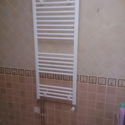 Instalación de toalleros para calefacción
