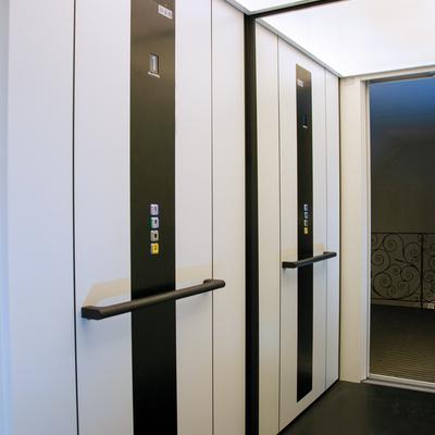 Interior del ascensor