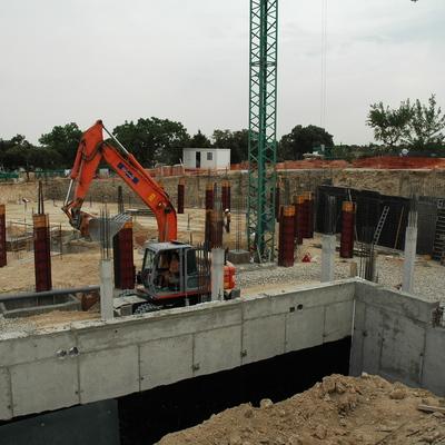 Fase de cimentación y estructura