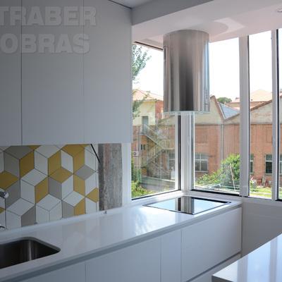 Año 2016. Reforma integral de vivienda realizada por Traber Obras. Madrid, barrio Chamartín.