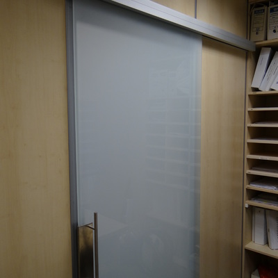 Puerta cristal. Interior