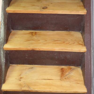 Peldaño de madera (después)
