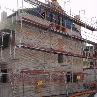 fachada en construccion