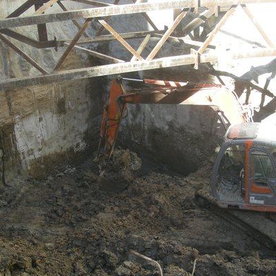 Excavación de sotanos en Cartagena