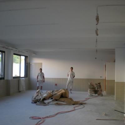 Pintura en Instituto Enric Valor de Pego,Alicante.