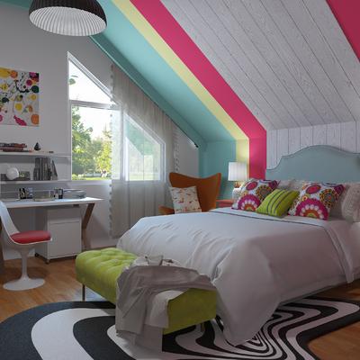 Dormitorio con zona de trabajo
