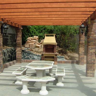 Ejecucion de terraza , con pergora
