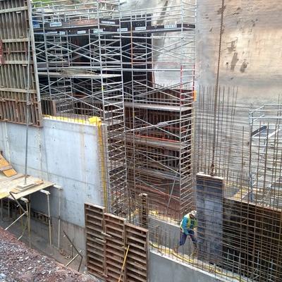 Ejecución muros a 10 metros
