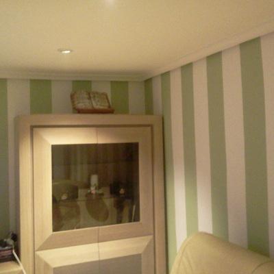 eliminación de gota, lucir paredes, pintura; decoración con rayas