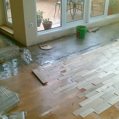 Reparación salón.