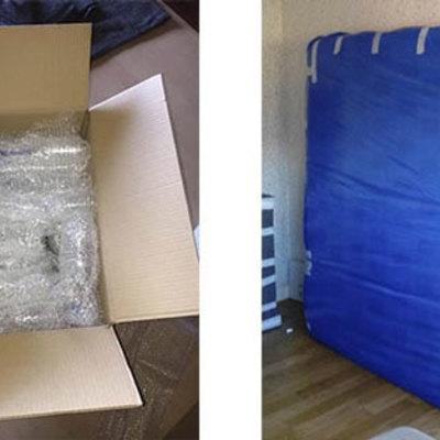 Embalaje material dormitorio