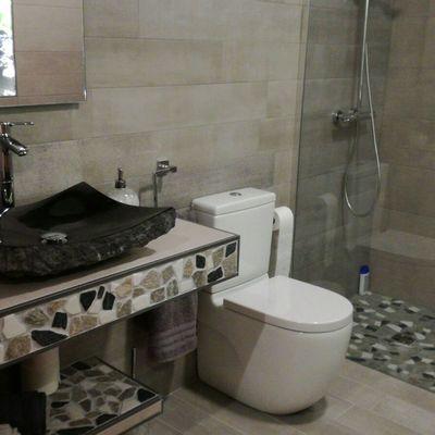 Encimera lavabo realizada en obra