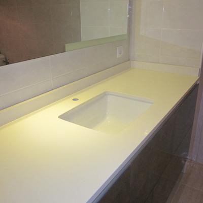 Encimera de baño en Compac vanille