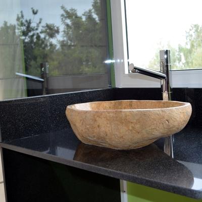 Encimera granito negro con labavo