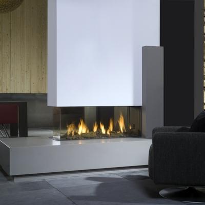 Ideas y fotos de chimeneas de gas para inspirarte - Chimenea de gas precio ...
