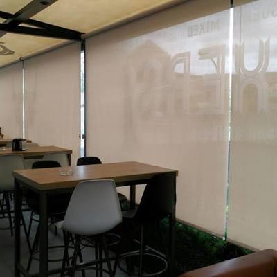 Enrollables screen para restaurantes