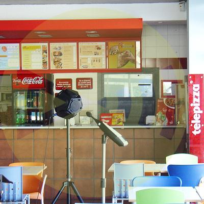 Ensayos acústicos en Telepizza