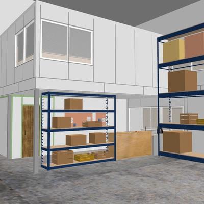 Entreplanta Oficinas Almacén opción 19 m2
