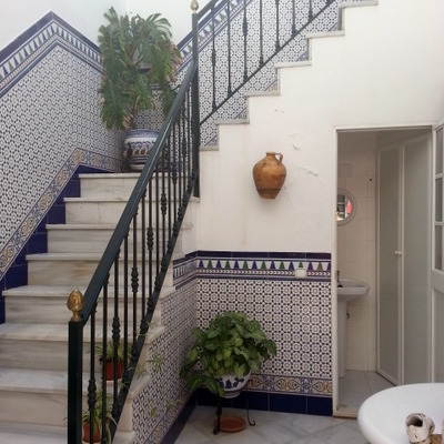 Escalera de patio.