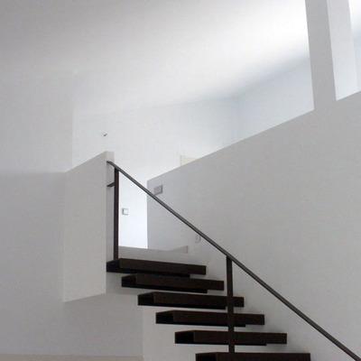 Escalera de vivienda unifamiliar en El Bonillo, Albacete