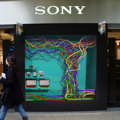 Escaparate Sony Store Barcelona