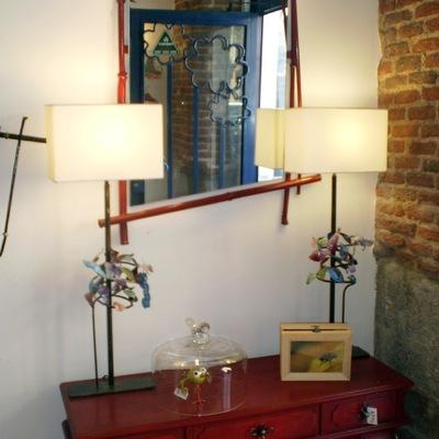 espejos, lámparas, muebles..
