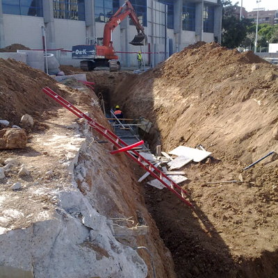 Construcción de colector en Esplugues