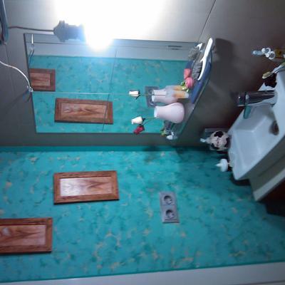 esponjeado en paredes de baño